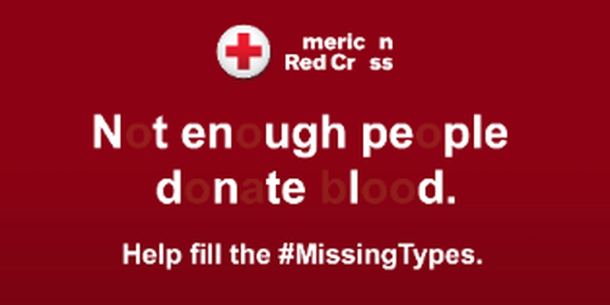 "Help the Red Cross ""Fill in the Missing Types"""