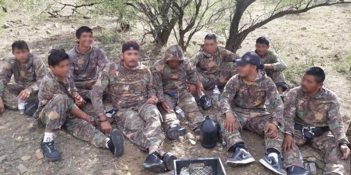 CBP seizes over 820 pounds of marijuana from 11 illegal aliens near Arivaca