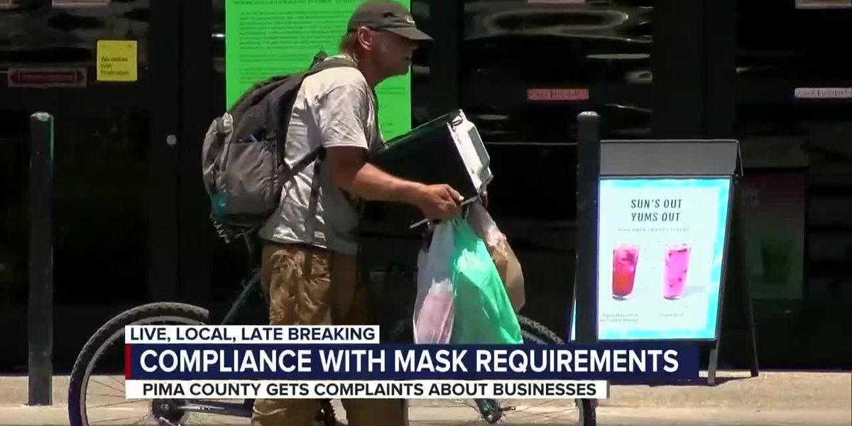 Pima County receives complaints about businesses not requiring face masks