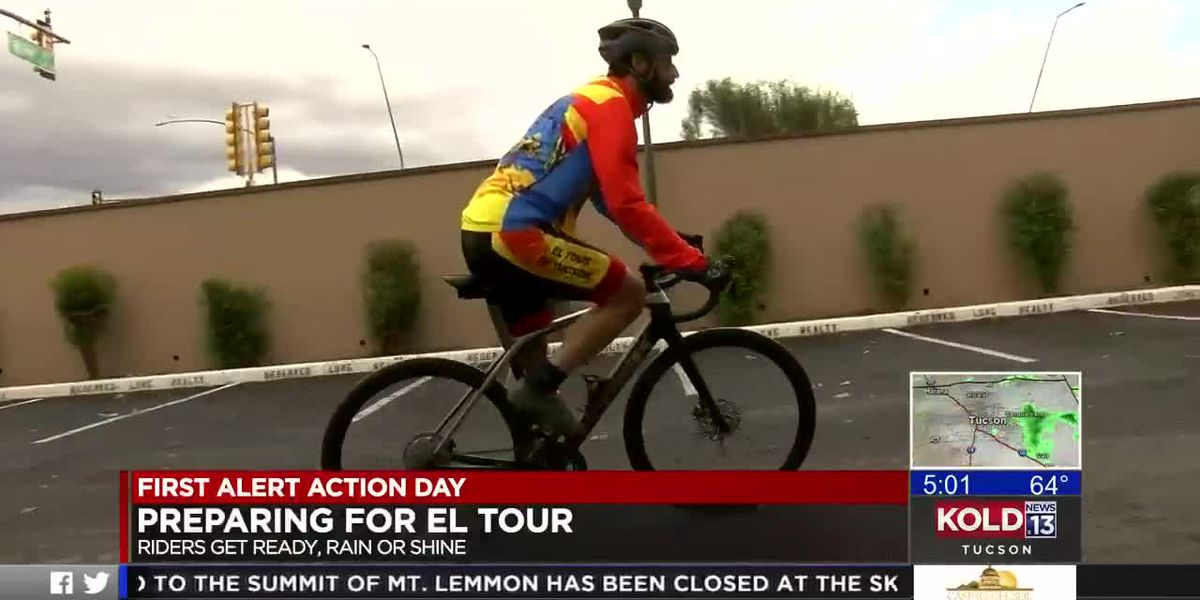 'Don't panic and always bring a towel': El Tour de Tucson riders pedal on through rain before the race