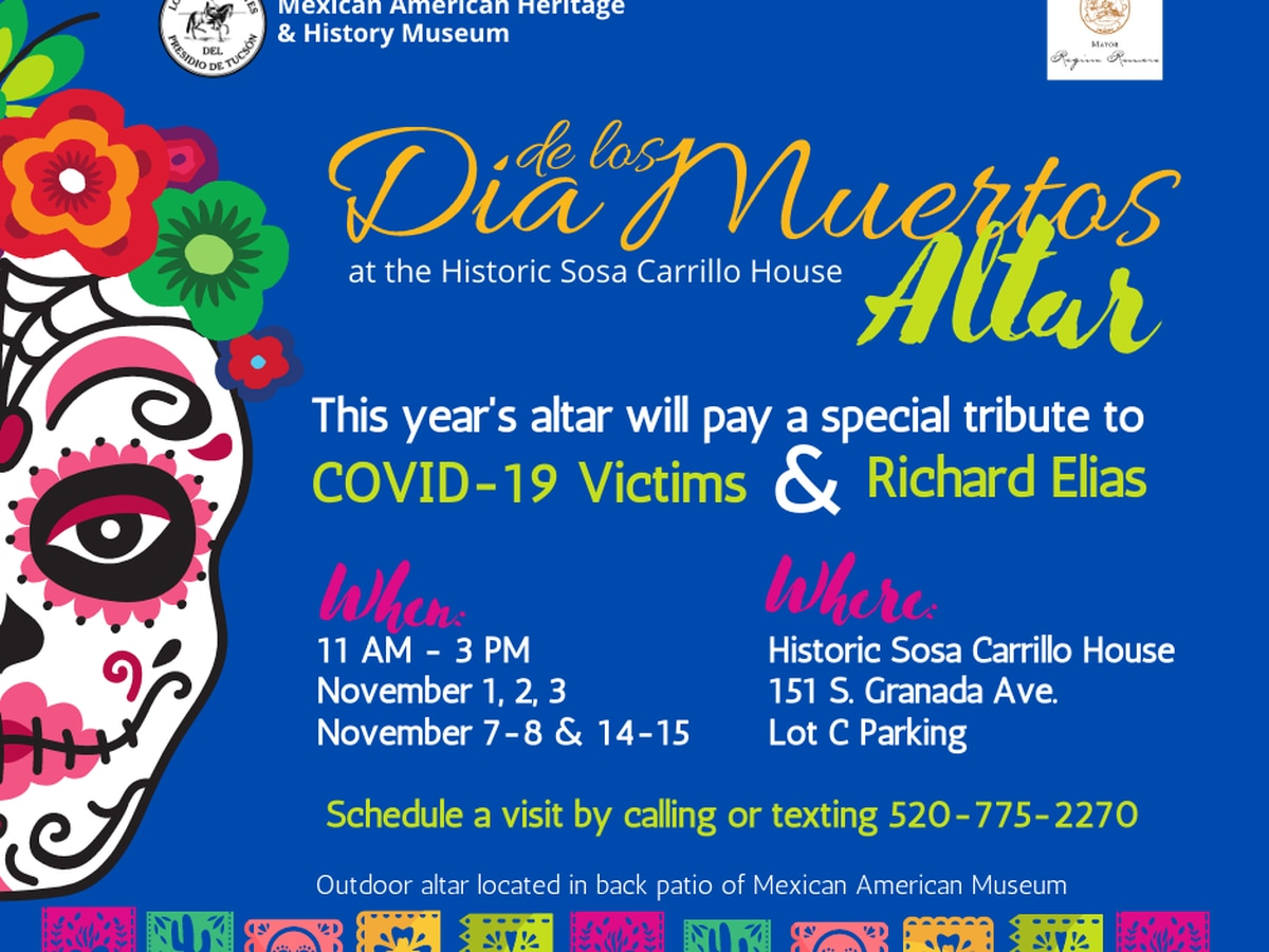 Tucson pays tribute to Richard Elias and COVID-19 victims with Dia de los Muertos Altar