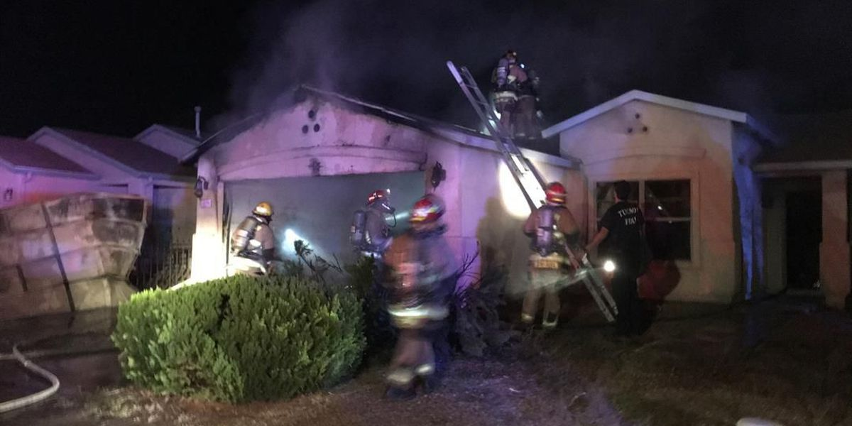 Overnight fire displaces family on Tucson's west side