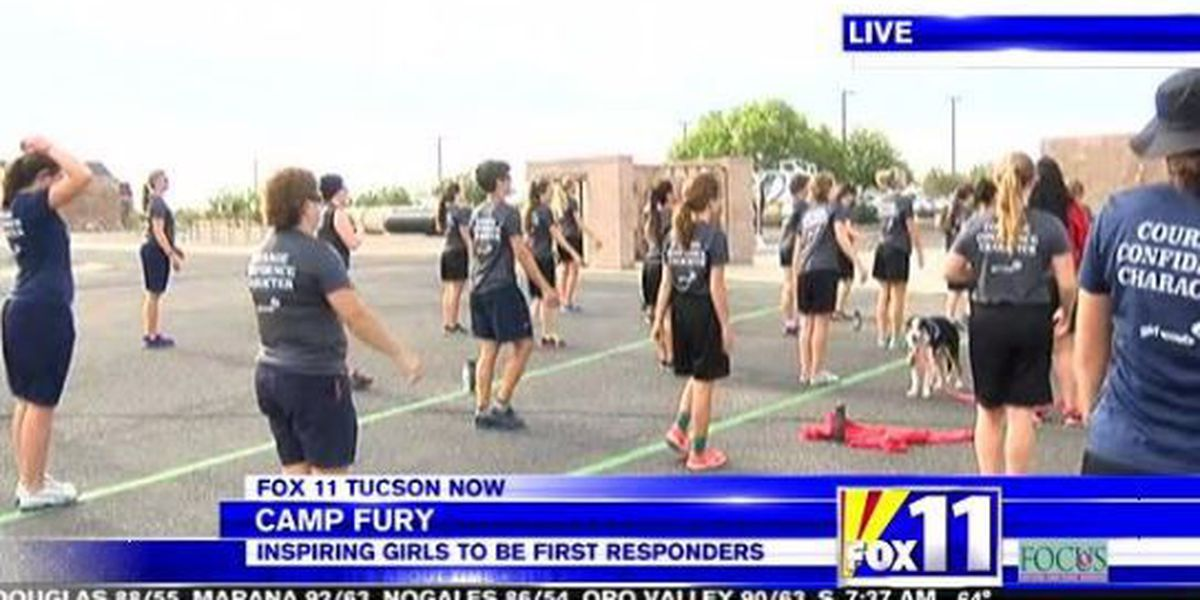 Camp Fury inspires girls to have careers in law enforcement and fire fighting careers
