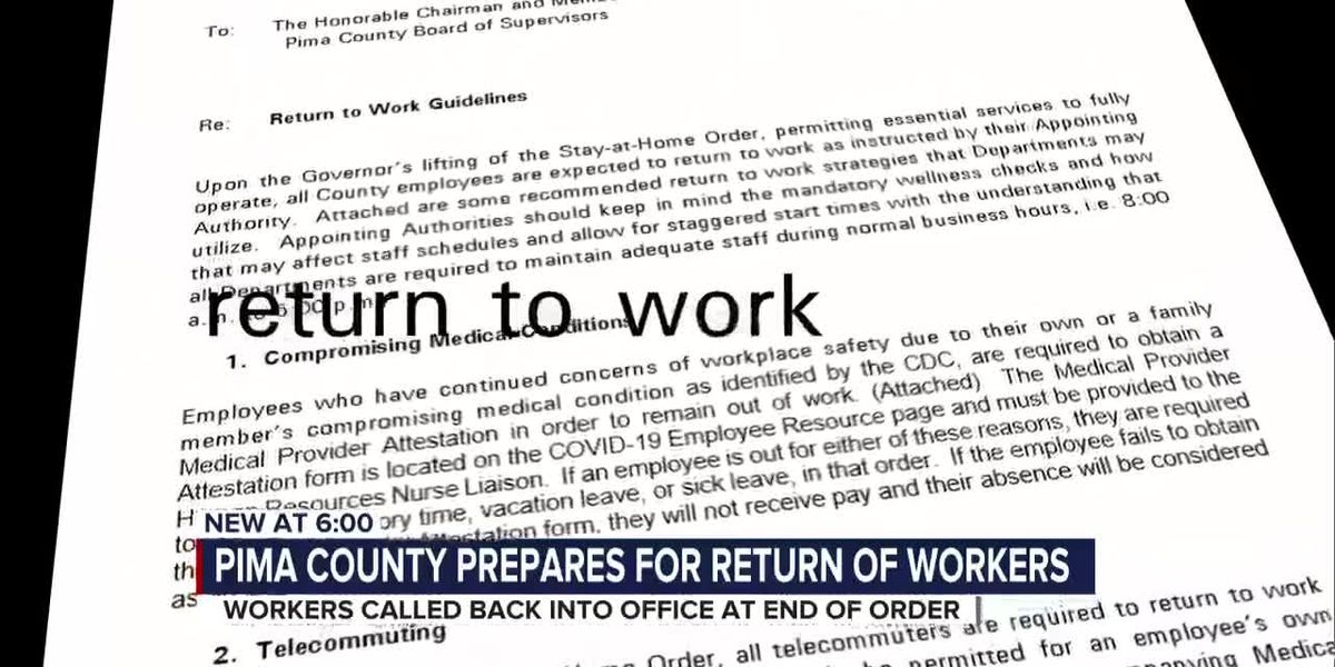 Pima County: Telecommuters must return to work once stay-at-home order is lifted