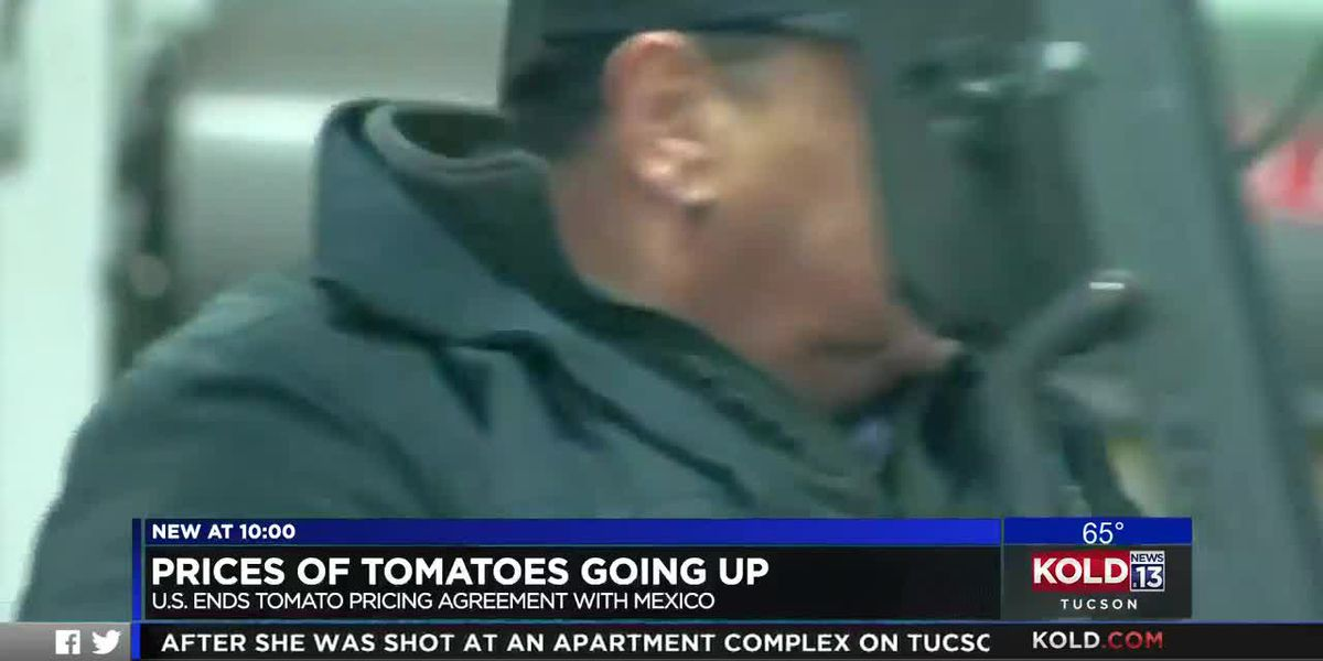 Price of tomatoes going up following end of U.S.'s agreement with Mexico.