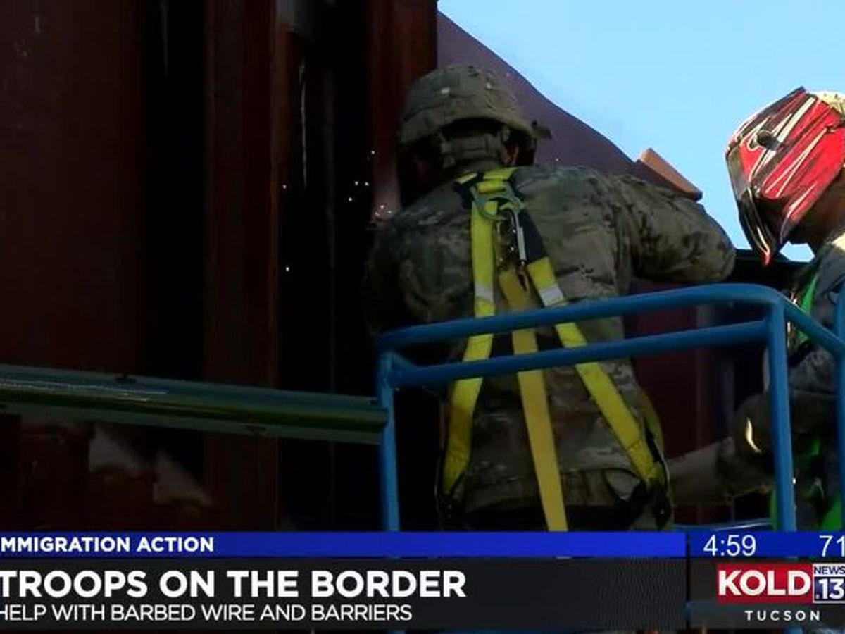 "Soldiers continue ""hardening"" the border near Nogales"