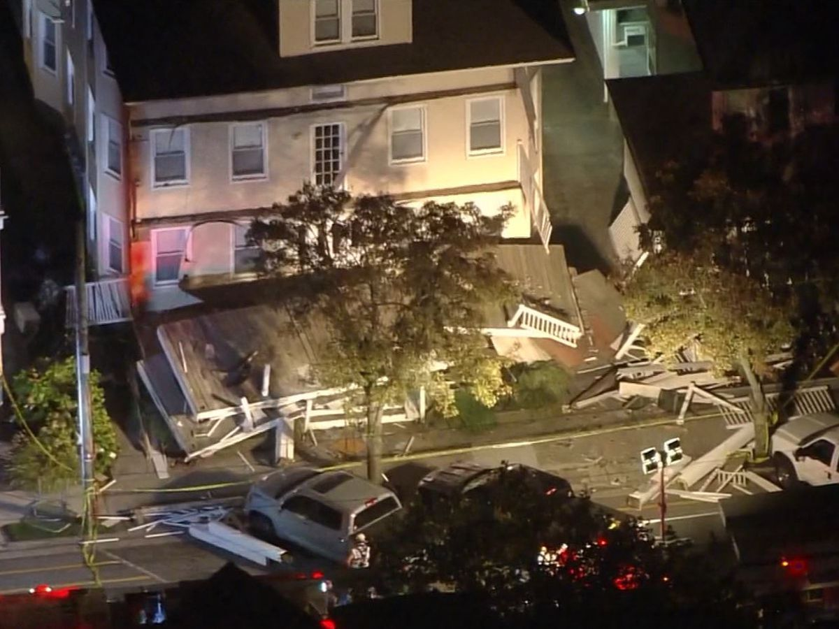 Decks collapse during firefighter event; at least 22 injured