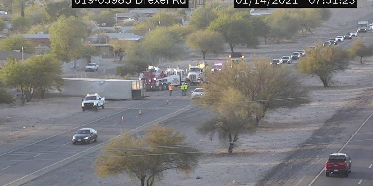 I-19 northbound lanes reopen after tractor-trailer crash