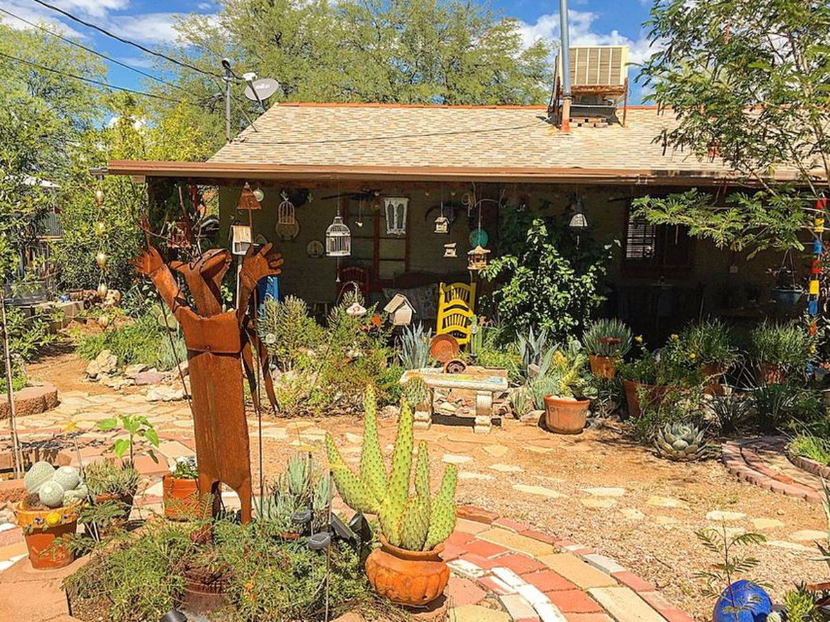 Tucson man uses recycled materials to create a beautiful garden