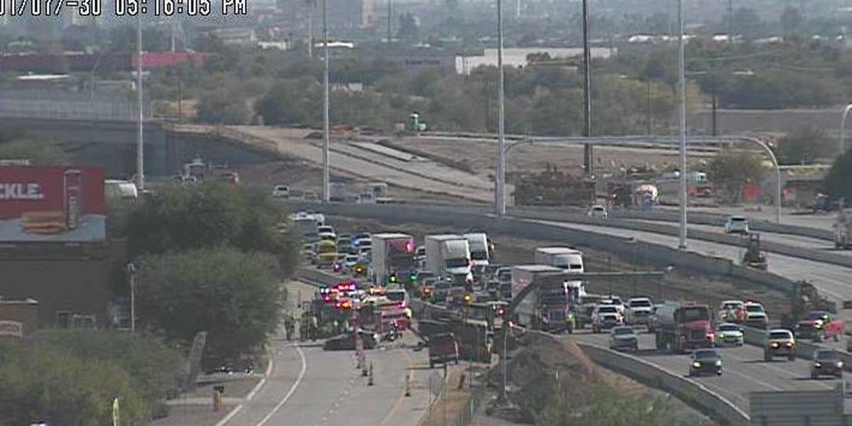 UPDATE: First responders at the scene of fatal crash on I-10 at Sunset Road exit
