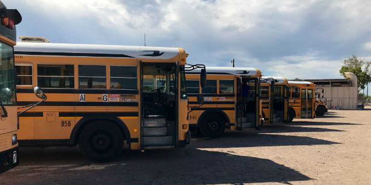 Sahuarita bus drivers remain hard at work during students' remote learning