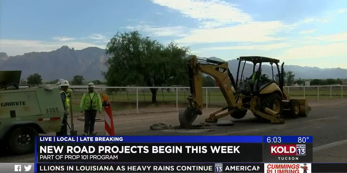 Prop 101 road projects begin this week
