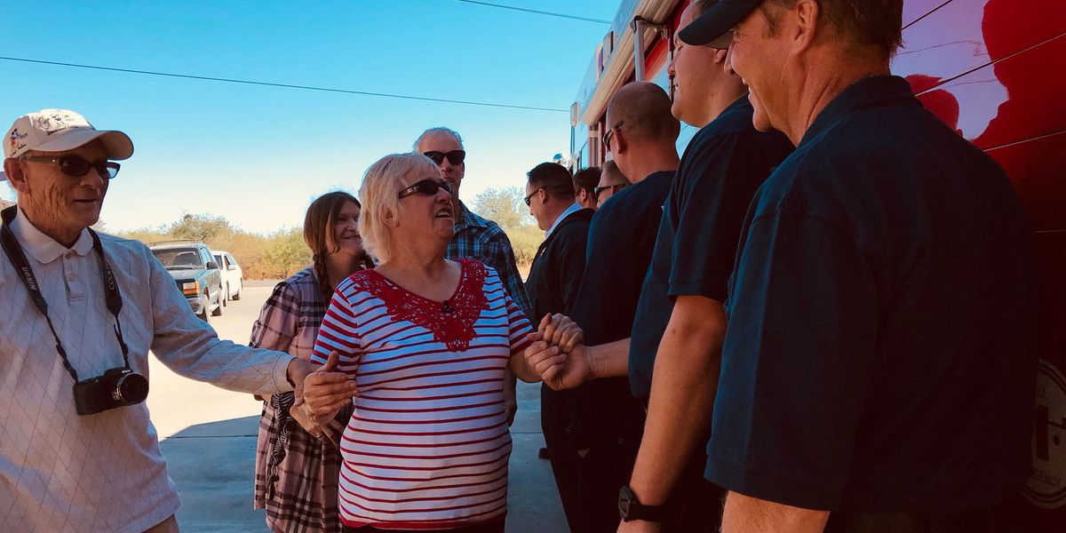 Fire department honors woman for 25 years of Thanksgiving dinner