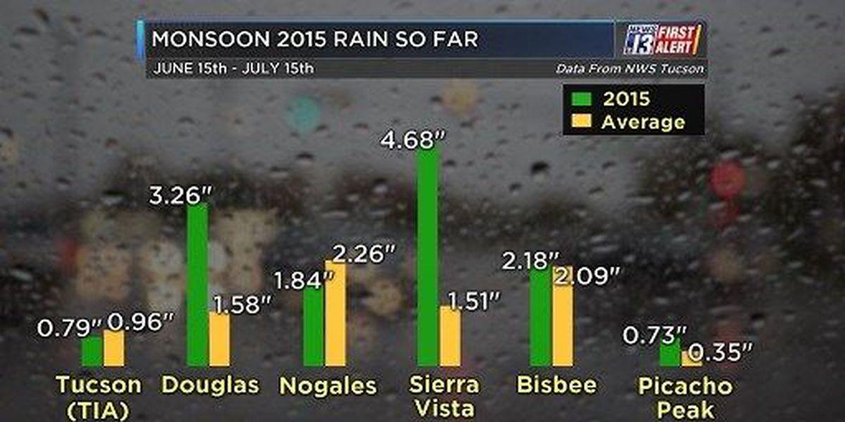 Monsoon 2015 rain so far