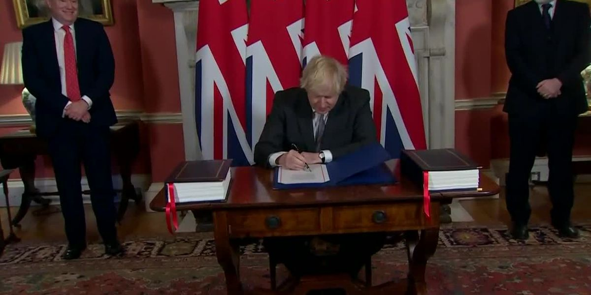 United Kingdom signs trade deal with European Union