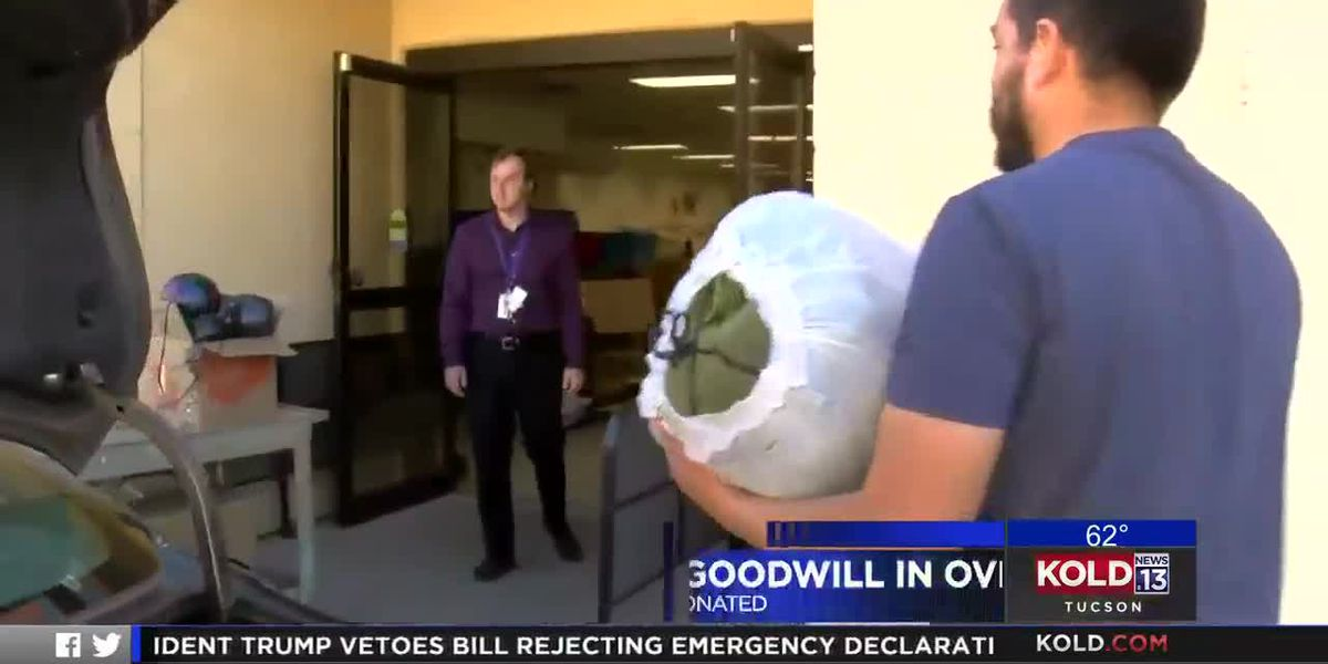 Donations to Goodwill in overdrive
