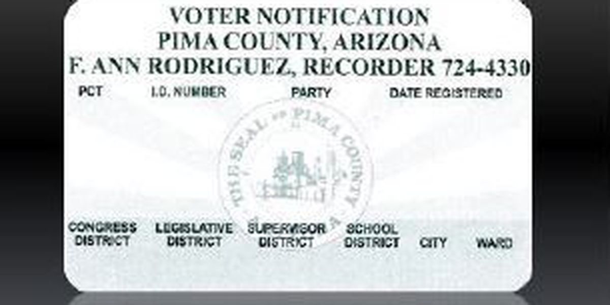 Pima County issuing new voter notification cards