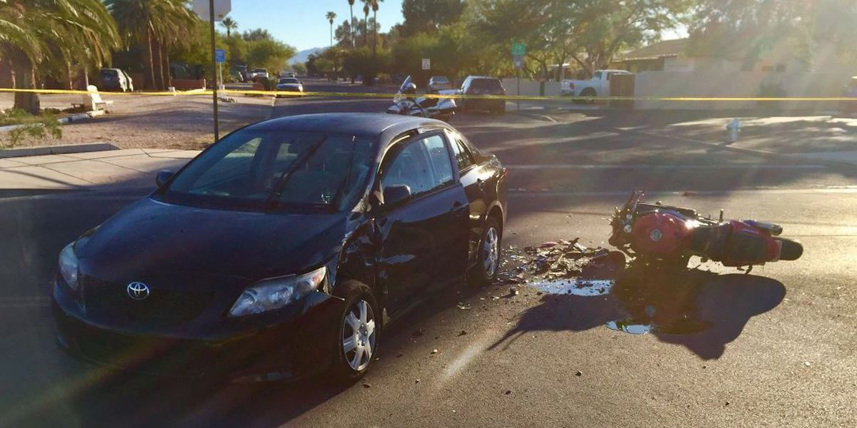 UPDATE: Tucson Blvd reopens after motorcycle crash