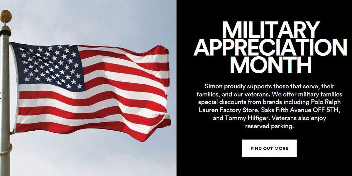 Tucson Premium Outlets celebrates Military Appreciation month.