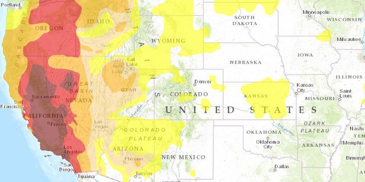 The U.S. drought monitor as an interactive map