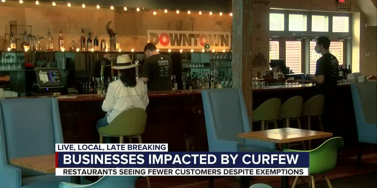 Tucson businesses impacts by curfew
