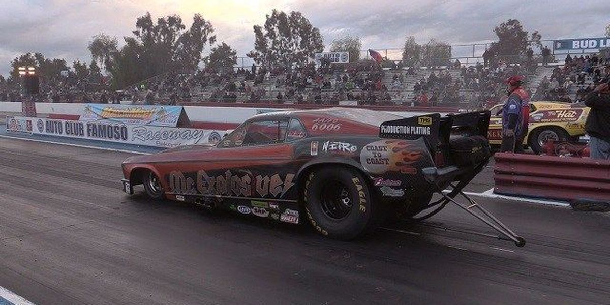 The funny cars come full speed into Tucson