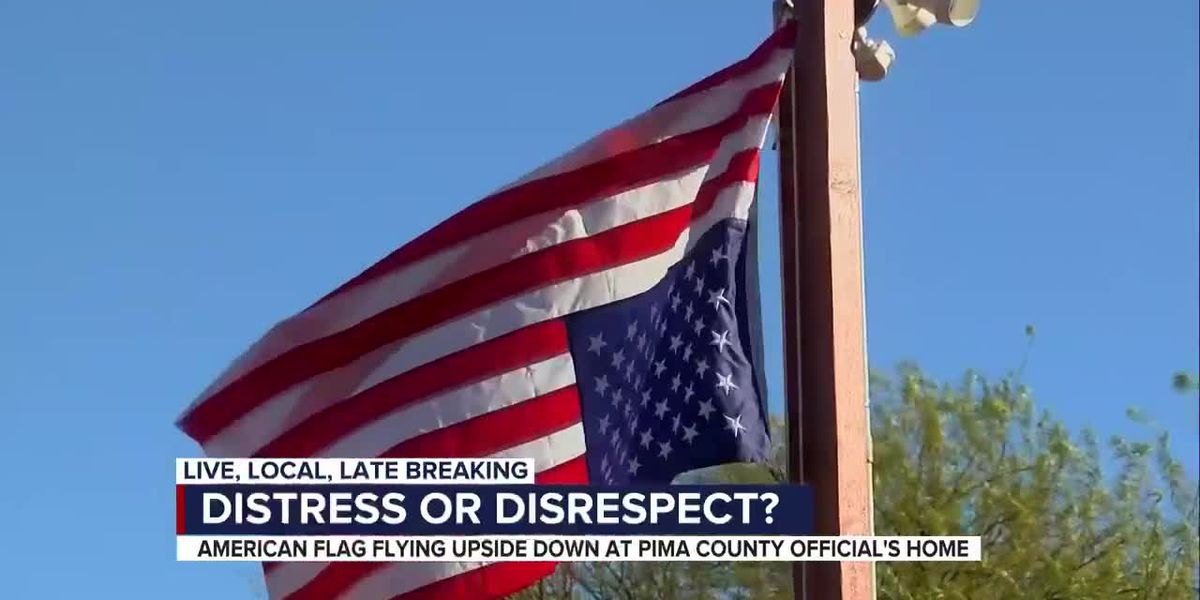 Pima County official facing backlash over upside down American flag