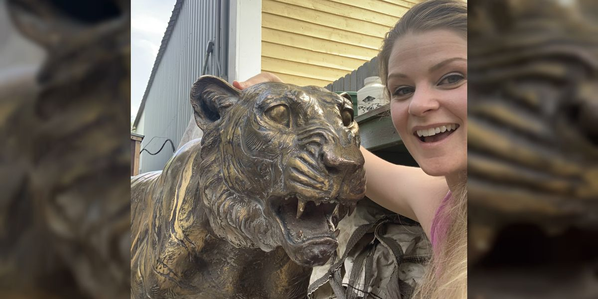 UPDATE: Tiger statue stolen from Trail Dust Town returned