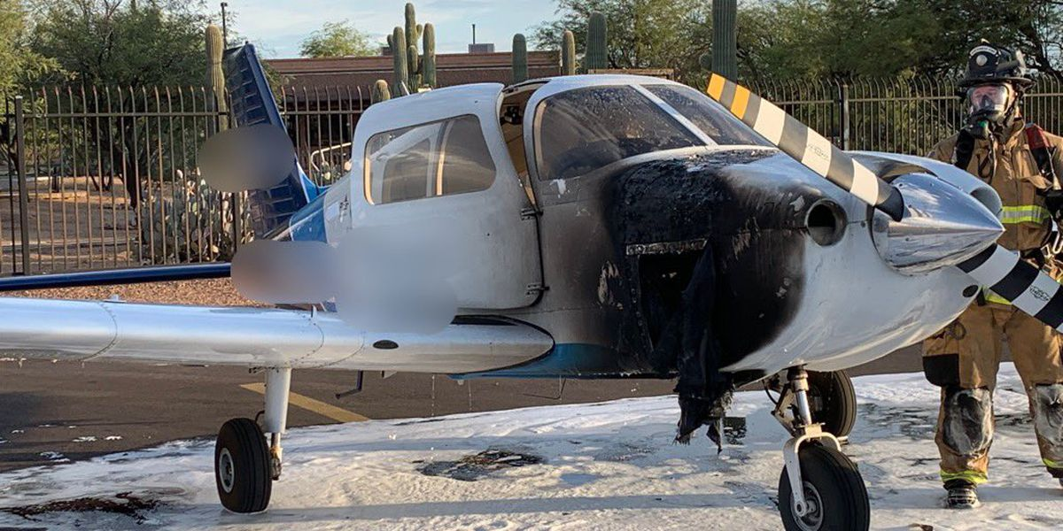 WATCH: Small plane catches on fire in Marana