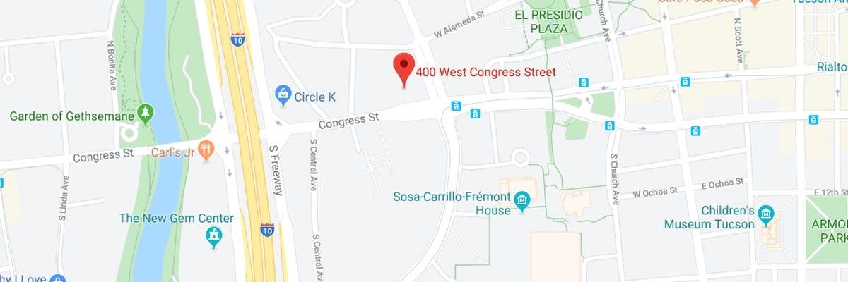 Tucson Fire responds to structure fire on Congress Street