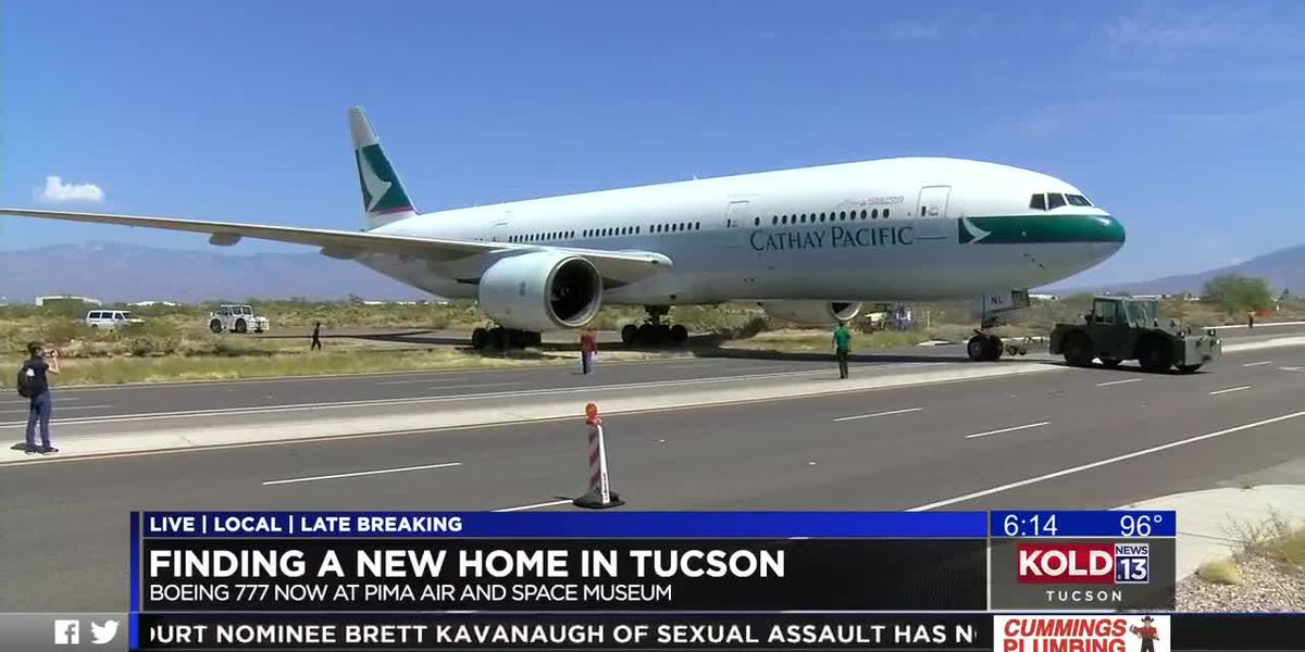 KOLD Boeing 777 finds new home in Tucson at Pima Air & Space Museum