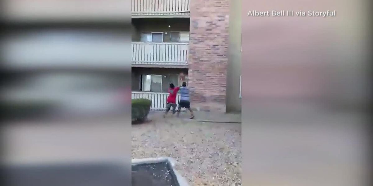 WATCH: Former Marine catches young boy falling from burning apartment