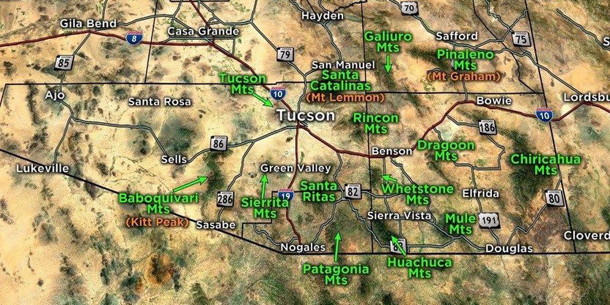 Arizona mountains are useful landmarks