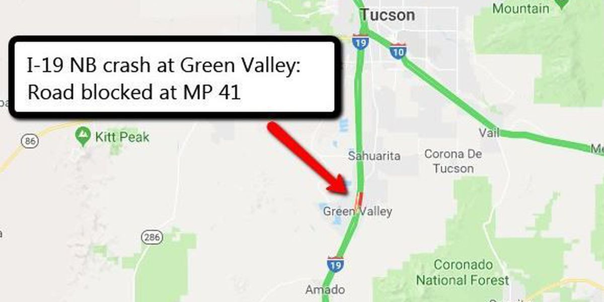 RV and tractor-trailer collide, NB I-19 closed at Green Valley