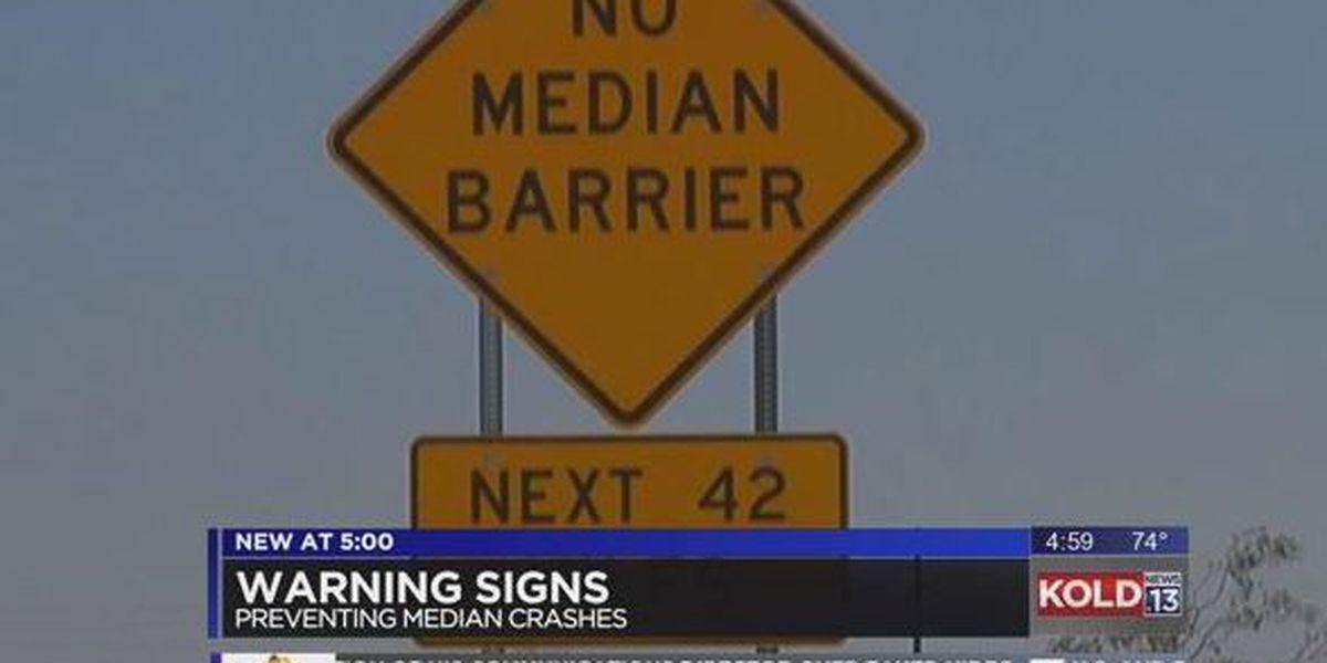 'No Median Barrier' signs installed along I-10