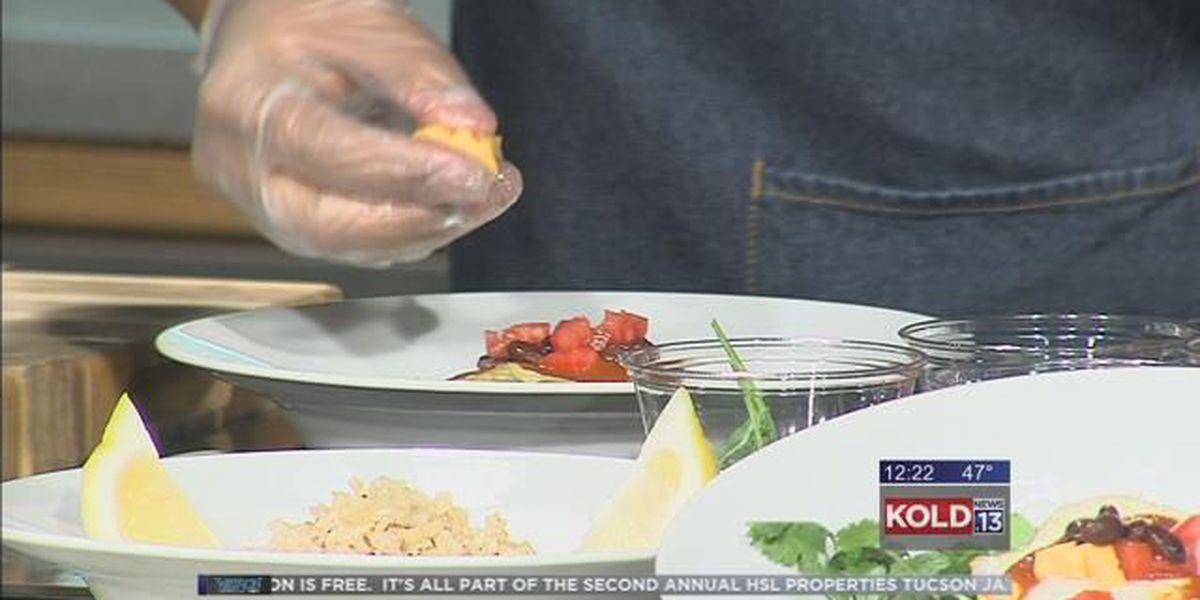 Black Bean Huevos Rancheros and Cod and Kale - Click Cafe