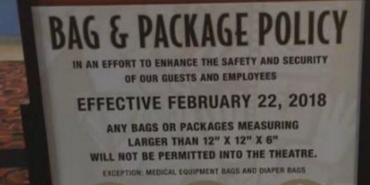Big bags no longer allowed at Cinemark
