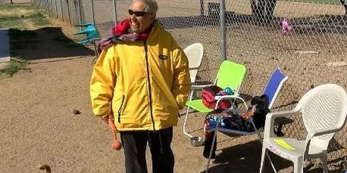 Severe wind, cold temps aren't stopping a Sierra Vista woman who loves her dog