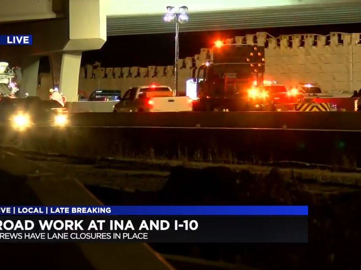 TRAVEL ALERT: Expect delays on westbound I-10 near Ina Road for emergency road repairs