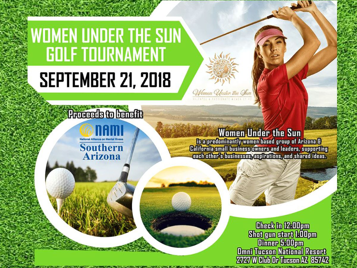 Women Under the Sun - AZ hosting a charity golf tournament for NAMI of Southern-AZ