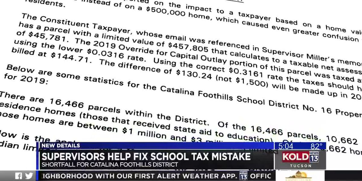 Catalina Foothills tax mistake