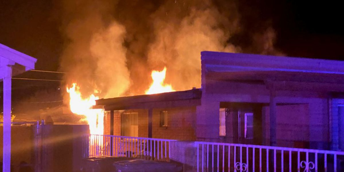 Fire damages vacant home on Tucson's west side