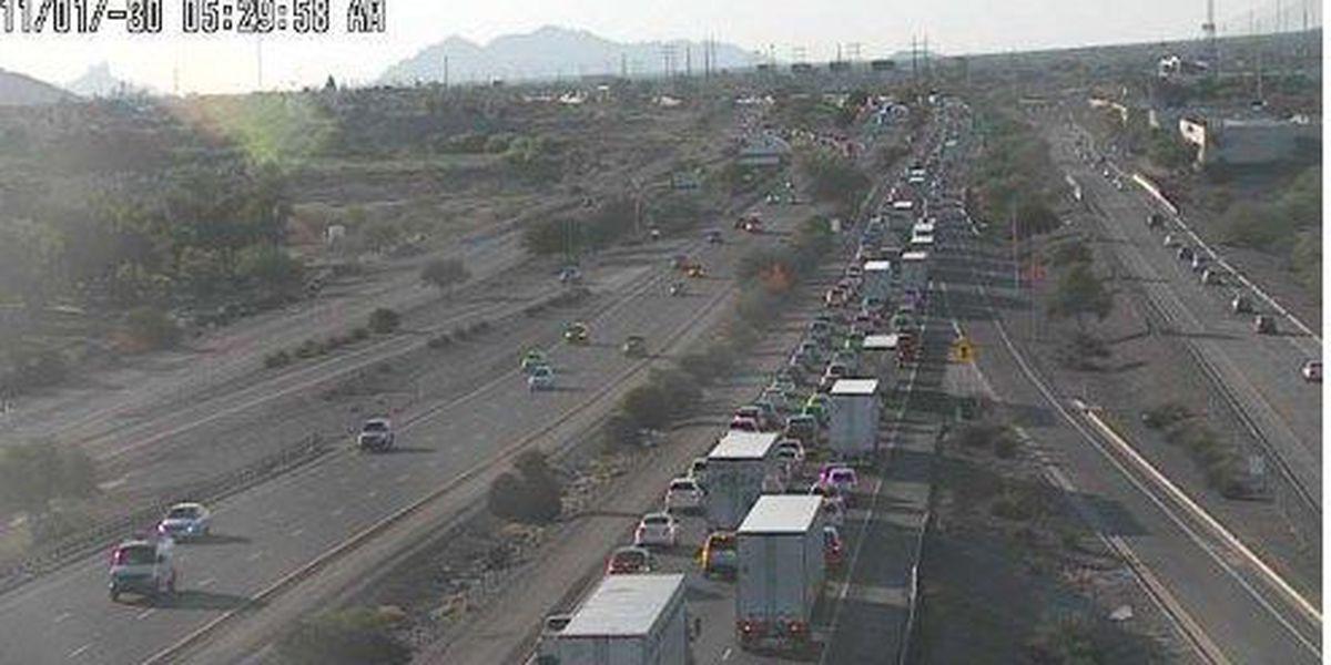 Crash creates heavy traffic on I-10