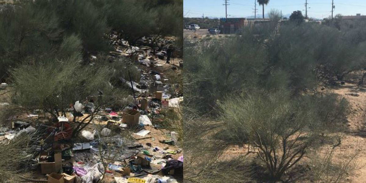 UPDATE: Massive trash heap near River, Oracle all cleaned up