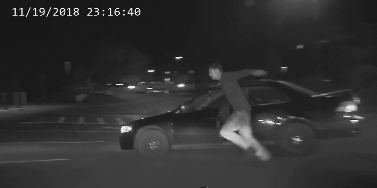 VIDEO: Man hit by own car during police chase