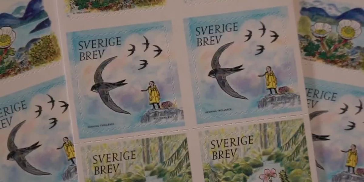 Environmental activist Greta Thunberg honored with postal stamp in Sweden