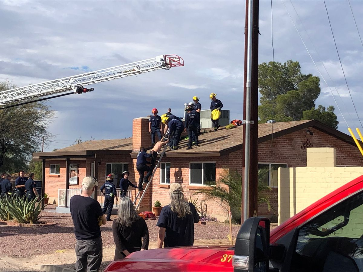 Tucson man gets trapped in chimney of midtown home