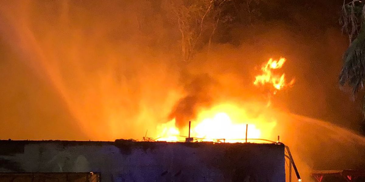 2-alarm fire destroys building at Breakers Water Park