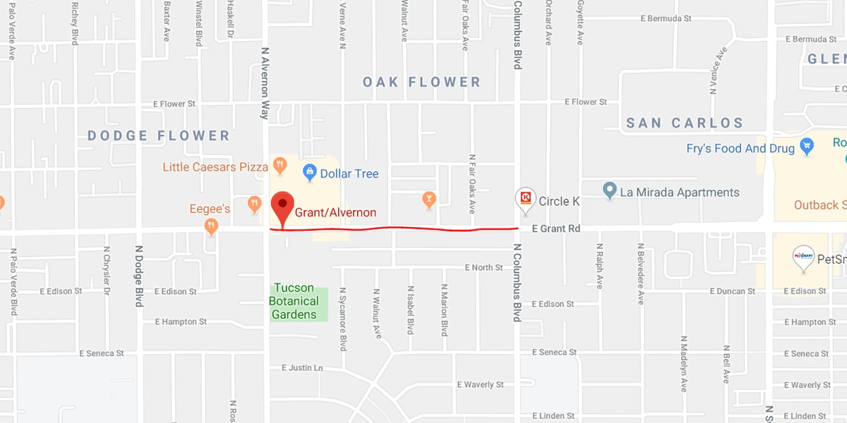 UPDATE: Road open after TPD responds to collision resulting in large fuel leak in midtown Tucson