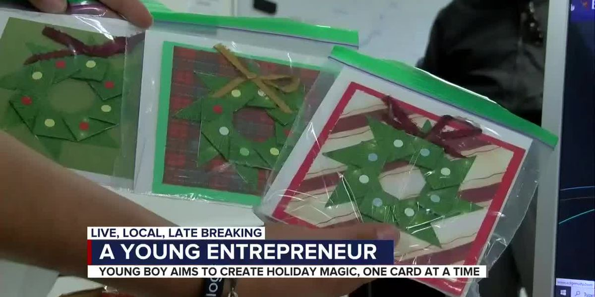Student with learning disability starts holiday card business